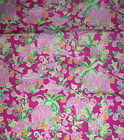 RARE LILLY PULITZER FABRIC*SLATHOUSE ROCK*ELEPHANTS*OWL*MONKEY*ZEBRA*HIPPO*18X18