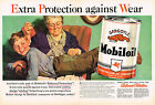 Vintage 1940 2 Page Magazine Ad Mobiloil w Balanced Protection For Wear
