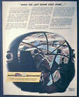 Bombardier Sights Up Target,  WWII Ad, original