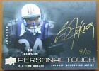 2012 UPPER DECK PT-BJ3 PERSONAL TOUCH BO JACKSON ALL TIME GREAT AUTO SERIAL 9 10