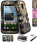 ZTE Source N9511 / Majesty Z796C Dual Layer RIB Tuff Armor Cover Case