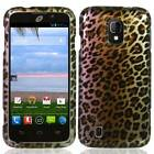 FOR ZTE MAJESTY Z796C HARD SNAP ON PLASTIC MATTE CASE PHONE COVER BROWN LEOPARD