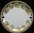 Antique PK Silesia Germany Prussia Cabinet Plate Pink Roses Gold