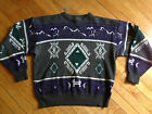 VTG BILL COSBY Ugly 80s SWEATER 90s Geometric Christmas Sweater XL Party Grandpa
