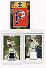 PIRATES TOPPS LOT (3): CAP PATCH LOGO CARD #43 99 + (2) GAME USED JERSEY CARDS