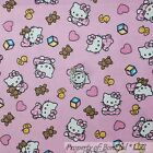 BonEful Fabric FQ Cotton Flannel Quilt Pink BABY Girl S Hello Kitty Heart Flower