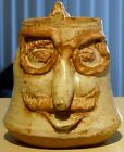 Stoneware Beer Mug Stein Breweriana Collectible Hand Made 1 of a Kind Funny Face