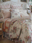 SIMPLY COTTAGE CHIC QUEEN CHAPS-RALPH LAUREN DUVET-SHAMS THROW PILLOW-FLORAL