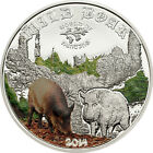 Cook Islands 2014 2$ World of Hunting - Wild Boar Silver Coin Proof