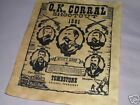 REPLICA O.K.CORRAL WYATT EARP TOMBSTONE OLD WEST WESTERN POSTER SIGN NR!!!