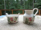 VINTAGE I.W. RICE & CO. SUGAR & CREAMER WITH STRAWBERRIES MADE IN JAPAN