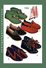 1940's Vintage 2 Styles Cozy Bootie Slippers FABRIC Material Sewing Pattern 7424