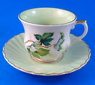 Pale Green with Leaves Old Foley Tea Cup and Saucer Set