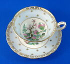 Indian Tree Center with Light Blue Border Grosvenor Tea Cup and Saucer Set