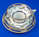Handpainted Ripon Mintons Tea Cup, Saucer and Plate Trio Set
