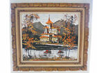 House On The Lake Painting - Morris Katz 1972- Original Frame