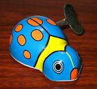TIN LITHO BLUE LADY BUG WIND UP TOY NEW IN BOX WE SHIP WORLDWIDE