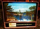 Hamms Beer Sign Motion Vtg 1950s TV Rippler Lake Scene Light Old Canoe Fisherman