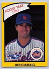 1990  RON DARLING - Kenner Starting Lineup Card - New York Mets - YELLOW