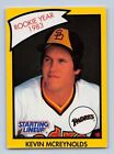 1990  KEVIN McREYNOLDS - Kenner Starting Lineup Card SAN DIEGO PADRES - (YELLOW)