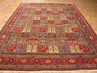 8x13 PERSIAN ORIENTAL QUM GARDEN DESIGN TRADITIONAL HAND KNOTTED CARPET AREA RUG