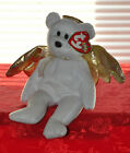 TY BEANIE BABY HALO 2 HOLIDAY ERROR BROWN NOSE ANGEL BEAR PLUSH XMAS BEANIE