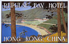AUTHENTIC Luggage Baggage Label Hong Kong Hotel China Artist Signed Dan Sweeney