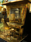 Vintage Copper Metal Music Box Ragtime Piano Player - Works Great - The Sting !!