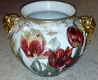 Antique 1892 Limoges Hand Painted Jardiniere Jean Pouyat