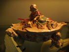 Fabulous Hand Painted Tureen held up by three angelic children and one on top