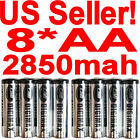 New DigiMax 8 AA 2850mah NiMH Rechargeable Batteries Battery for digital camera+