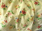 Laura Ashley Carlisle yellow floral twin dust ruffle bed skirt cotton blend