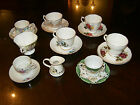 LOT OF 6 TEA CUPS & SAUCERS + EXTRAS SHAFFORD BLUE BIRD HAMMERSLEY ROYAL ALBERT