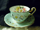 BONE CHINA, BRITISH BY WINDSOR CHINA, CUP AND SAUCER SET,