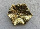 Rare Vintage Virginia Metalcrafters Brass Lemon Leaves Tray - 1953