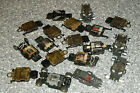 Vintage lot of TYCO HO scale slot car Motors Chassis Gears wheels tires axels