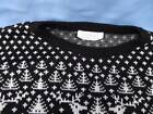 UGLY TACKY CHRISTMAS SWEATER VINTAGE RON WINTER REINDEER SKI STYLE ACRYLIC MED