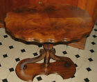 ABSOLUTELY GORGEOUS ANTIQUE BURL MAHOGANY PEDESTAL TABLE !