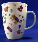 Dunoon Fine Bone China Cat Motif Cup or Mug Designed by Maggie Hartland