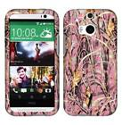Pink Camo Grass Tuff For HTC One M8 Cover Case Snap on Protector