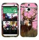 Pink Camo Deer Conifer Tuff For HTC One M8 Cover Case Snap on Protector