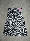 NATIVE CONFIDENT & BEAUTIFUL ZEBRA SHAPEWEAR SLIP WOMEN MEDIUM BLACK & WHITE NWT
