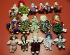 Large Lot Of 16 Clowns Mimes Jesters Figurines Porcelain
