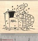 Christmas Card Turtle Rubber Stamp Tortoise Mailing Holiday Greeting K26304 WM