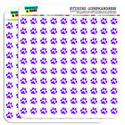 Paw Print Purple 05 Scrapbooking Crafting Stickers