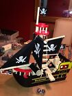 Le Toy Van  Barbarossa Pirate Ship W/Shooting Cannon and two cannon balls