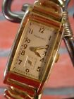 Vintage 1930s TAVANNES WRIST WATCH 10 Karat Gold Filled 10k FOR REPAIR Handwound