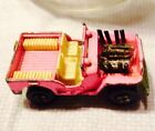 Vtg 1971 Matchbox Lesney England Superfast #2 Jeep Hot Rod Pink