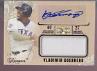 2014 Topps Triple Threads Game Jersey Autograph Auto Vladimir Guerrero 99 Texas