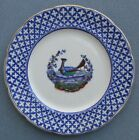 Sampson Hancock & Sons Stoke-on-Trent England Chantilly Flow Blue Bird Plate